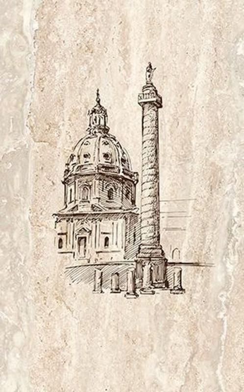 Фото - Керамический декор Ceramica Classic Efes coliseum-2 Columna 25х40 см керамическое панно ceramica classic efes coliseum 40х50 см