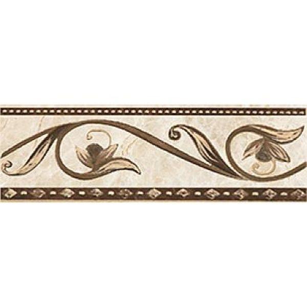 купить Керамический бордюр Ceramica Classic Illyria cappuccino 8х25 см по цене 155 рублей