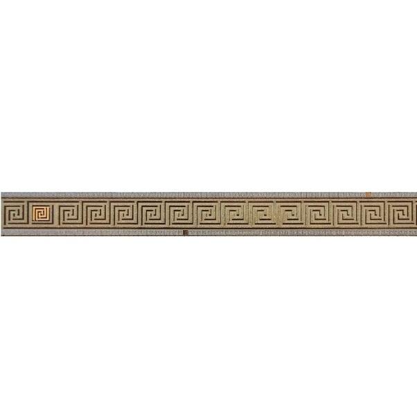 Стеклянный бордюр Ceramica Classic Петра Пальмира бежевый 5х60 см фото