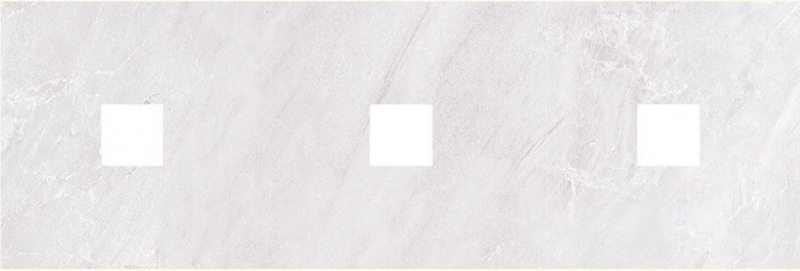 Керамический декор Ceramica Classic Мармара с 3-мя вырезами серый 20х60 см керамический декор ceramica classic петра с 3 мя вырезами бежевый 20х60 см