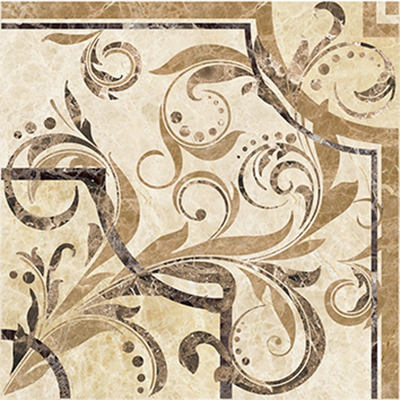 Керамическая вставка Ceramica Classic Illyria vendom marrone 30х30 см керамическая плитка ceramica classic illyria marrone настенная 25х40 см