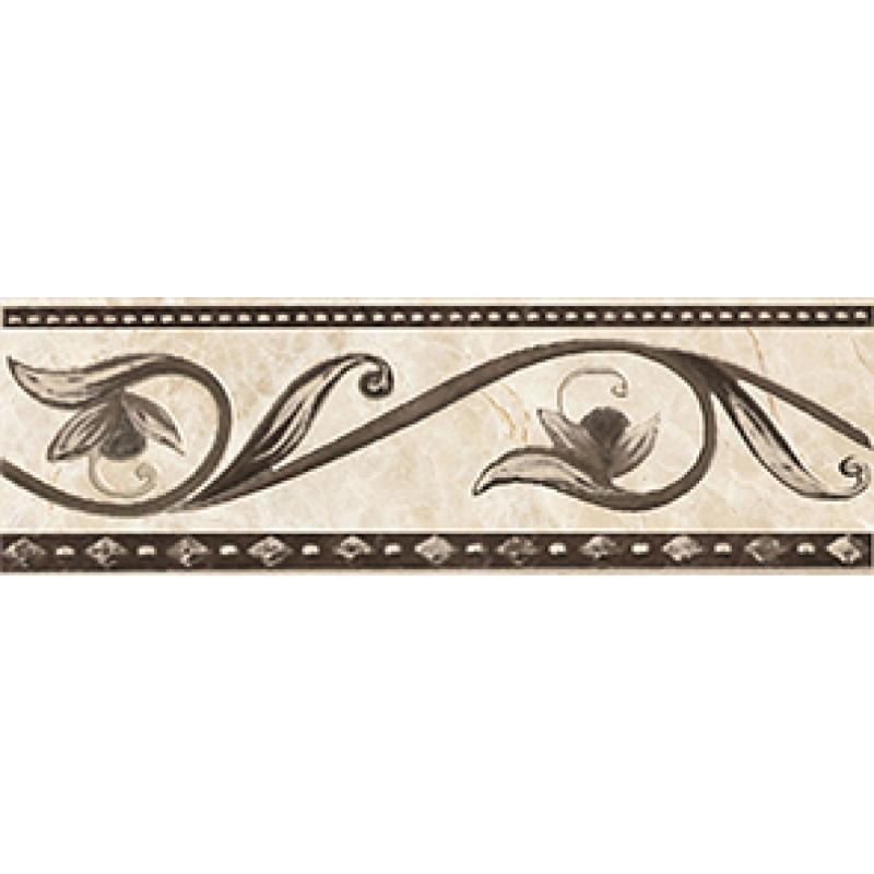 купить Керамический бордюр Ceramica Classic Illyria marrone 8х25 см по цене 155 рублей