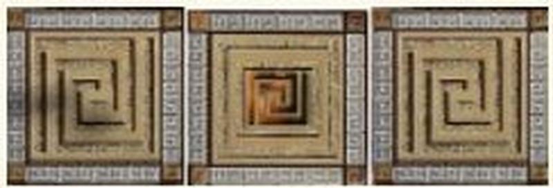 цена на Стеклянная вставка Ceramica Classic Петра Пальмира Комплект бежевый (3шт/компл.) 5,5х5,5 см