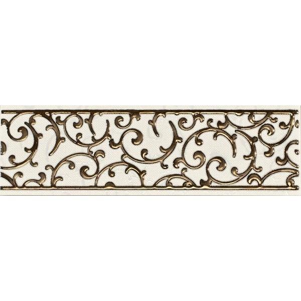 цена на Керамический бордюр Lasselsberger Ceramics Анастасия орнамент кремовый 1502-0603 7,5х25 см