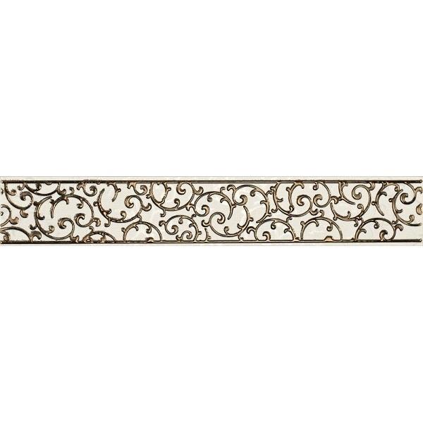 Керамический бордюр Lasselsberger Ceramics Анастасия орнамент кремовый 1504-0132 7,5х45 см