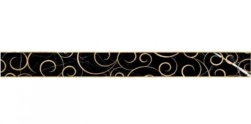 Керамический бордюр Lasselsberger Ceramics Миланезе дизайн Флорал Неро 1506-0160 6х60 см керамический бордюр lasselsberger ceramics ящики 1506 0174 6 5х60 см