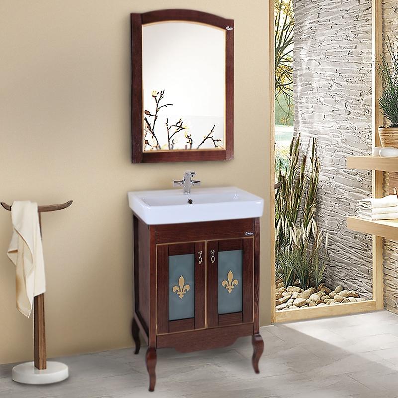 Женева 60 Белое деревоМебель для ванной<br>Напольная тумба под раковину Onika Женева 60 106033 на четырех изящно изогнутых ножках, с двумя распашными дверцами с витражом. Надежная работа подвижных механизмов благодаря тщательно подобранной качественной фурнитуре. Мебель сертифицирована в соответствии с требованиями Российского законодательства. Предназначена для использования в ванных комнатах с повышенной влажностью.<br>Конструкция:                 <br><br>Цвет: белое дерево.<br>Фасад: натуральный шпон.<br>Корпус и ножки: массив дуба.<br>Витраж с узором: Onika.<br>Ручки: металлические, Boyard.<br>Плавное закрывание дверок: петли с доводчиками, Boyard.<br>Отделение: две распашные дверцы, деревянная полка.<br>Монтаж: напольный, на четырех ножках.<br><br>В комплекте поставки:<br><br>тумба.<br><br>