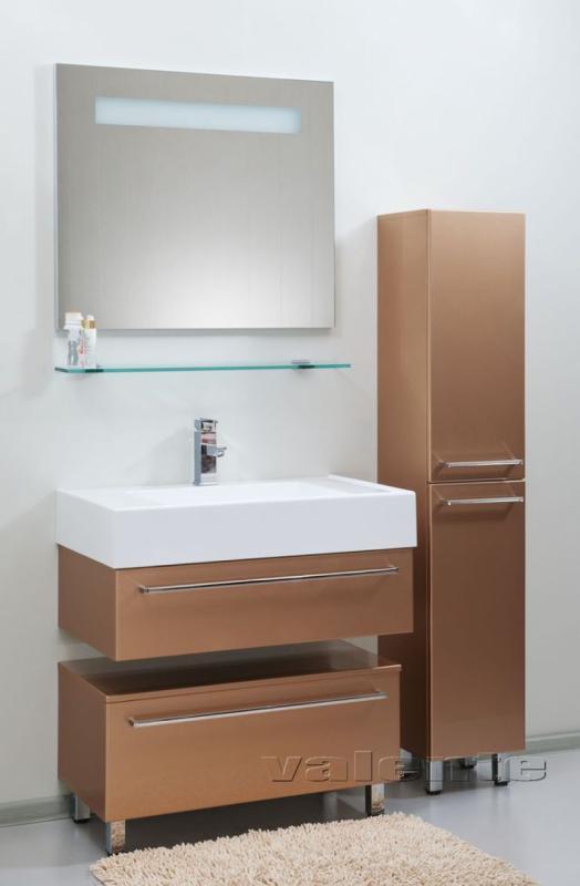 Severita 1 покрытие шпон раковина камень с наполнением S7Мебель для ванной<br>Цена указана за модуль S7 (покрытие шпон, раковина камень с наполнением). Модуль с раковиной представляет собой корпусную конструкцию с ящиком, снабженным шарикоподшипниковой системой выдвижения. Верх модуля - раковина прямоугольной формы из искусственного камня. Дно ящика закрыто специальным ковриком серого цвета.<br>Размеры: 816x500x360<br>