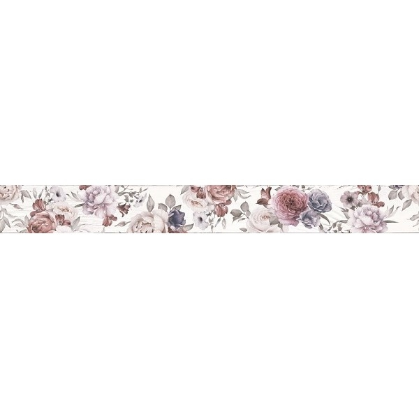 Керамический бордюр Lasselsberger Ceramics Шебби Шик белый 1506-0018 7х60 см керамический бордюр lasselsberger ceramics ящики 1506 0174 6 5х60 см