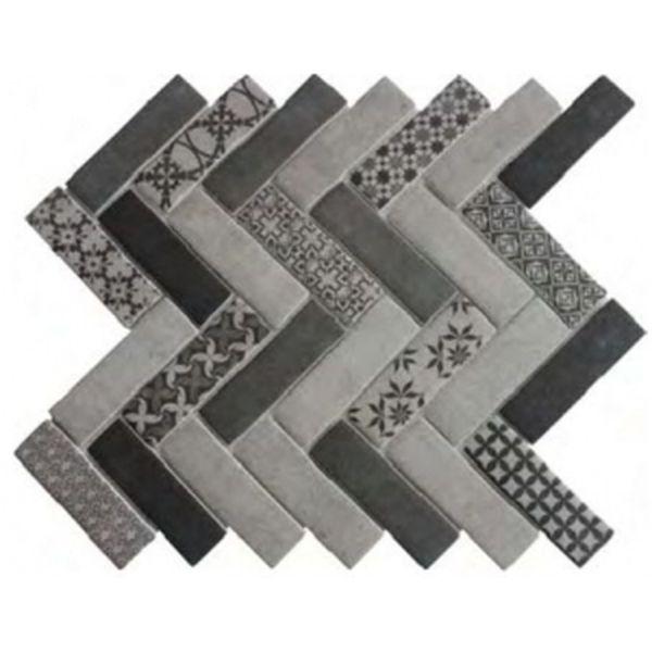 Керамическая мозаика Orro Mosaic Ceramic Tweed Gray 32,6х30,4 см