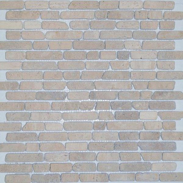 Каменная мозаика Orro Mosaic Stone Travertine Classic Interlocking Tum. 30,5х30,5 см