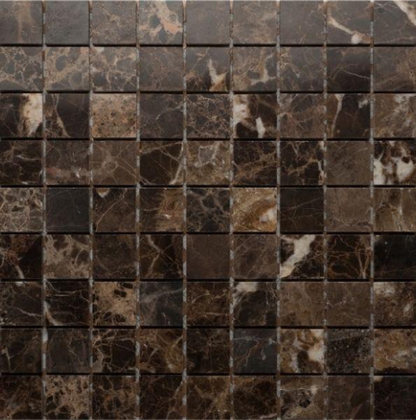 Каменная мозаика Orro Mosaic Stone Emperador Dark Pol. 7мм 30,5х30,5 см