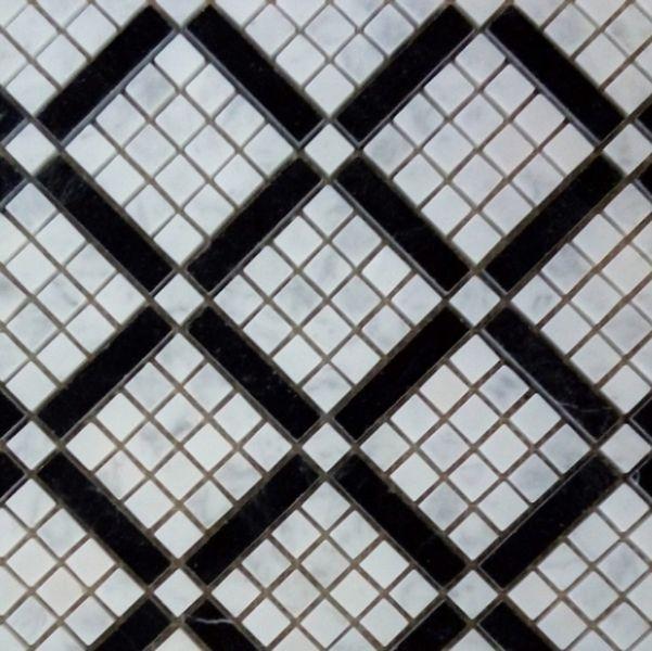 Каменная мозаика Orro Mosaic Stone Diagonal Carrara 37х37 см каменная мозаика orro mosaic stone rovena green 25х33 5 см