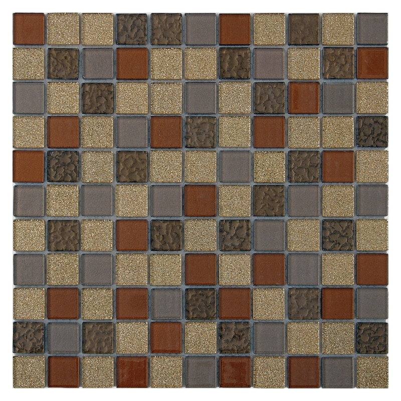 Стеклянная мозаика Orro Mosaic Cristal Chocolate 29,5х29,5 см стеклянная мозаика orro mosaic cristal aquifer 4 мм 29 5х29 5 см