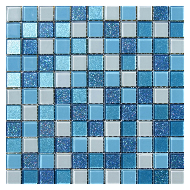 Стеклянная мозаика Orro Mosaic Cristal Blue Lagoon 29,5х29,5 см цена в Москве и Питере