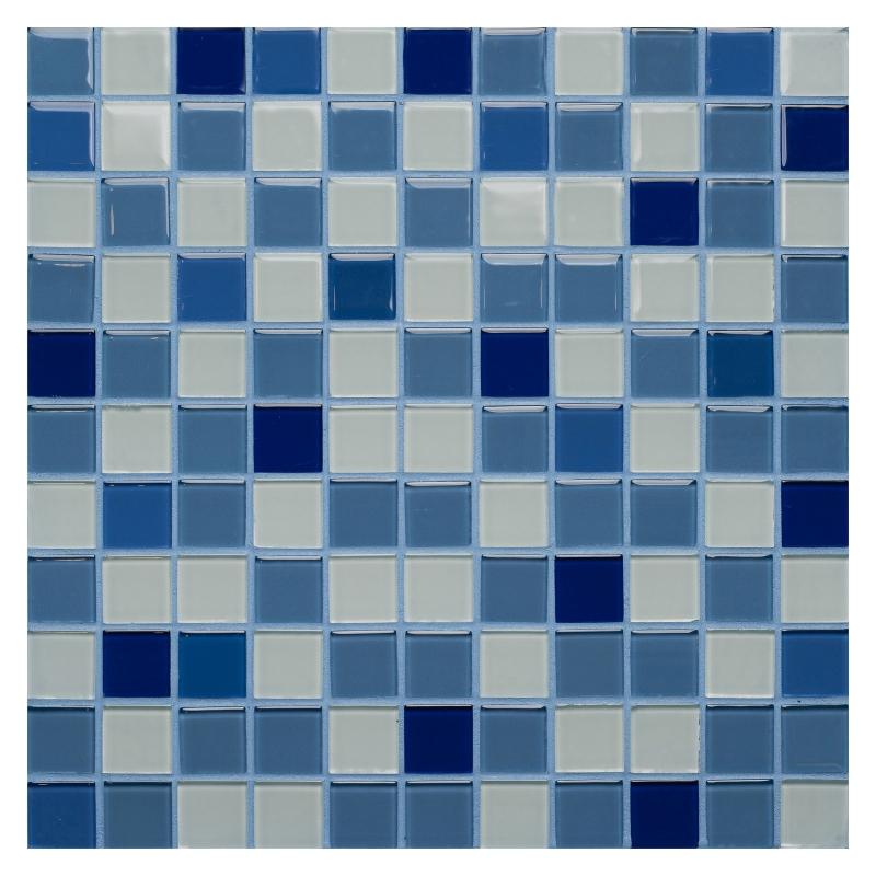 Стеклянная мозаика Orro Mosaic Cristal Blue Atlantic 29,5х29,5 см стеклянная мозаика orro mosaic cristal aquifer 4 мм 29 5х29 5 см