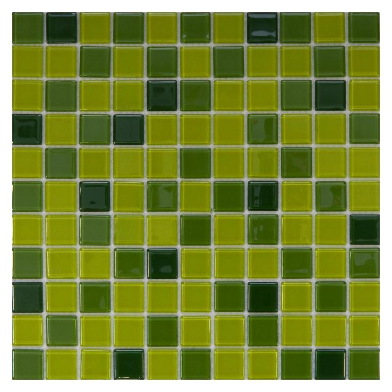 Стеклянная мозаика Orro Mosaic Cristal Ultra Green 29,5х29,5 см стеклянная мозаика orro mosaic cristal aquifer 4 мм 29 5х29 5 см