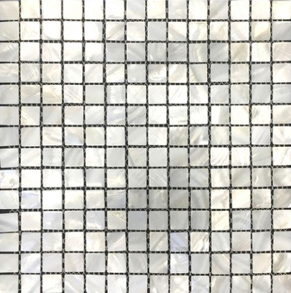 Стеклянная мозаика Orro Mosaic Glass Moon Shell (белая) 30х30 см