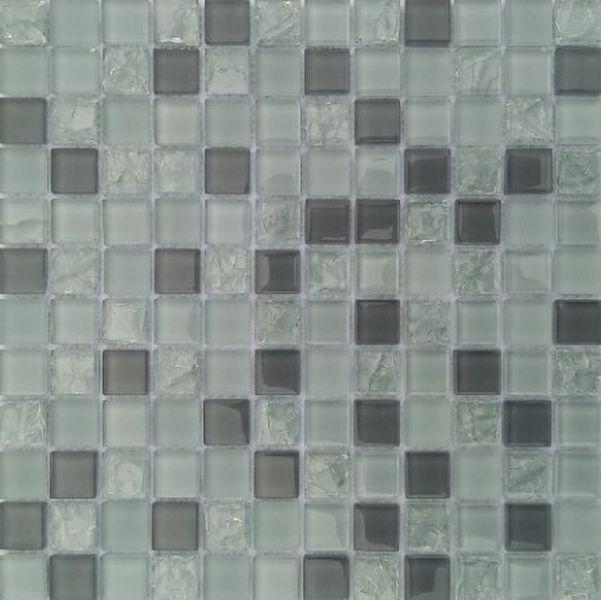 Стеклянная мозаика Orro Mosaic Glass Gray Crush 30х30 см