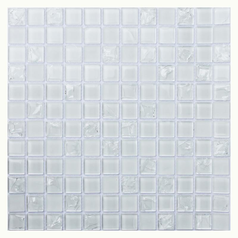 цена Стеклянная мозаика Orro Mosaic Glass White Crush 30х30 см онлайн в 2017 году