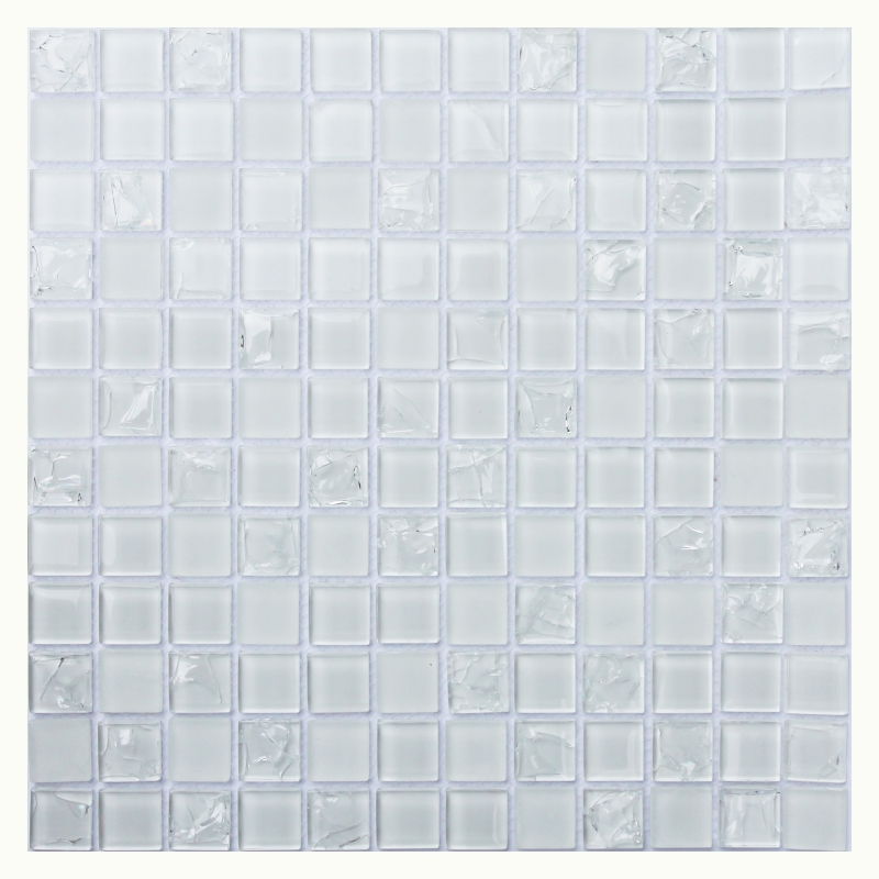Стеклянная мозаика Orro Mosaic Glass White Crush 30х30 см