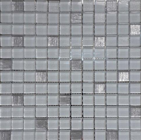 цена Стеклянная мозаика Orro Mosaic Glass Vesta White 30х30 см онлайн в 2017 году