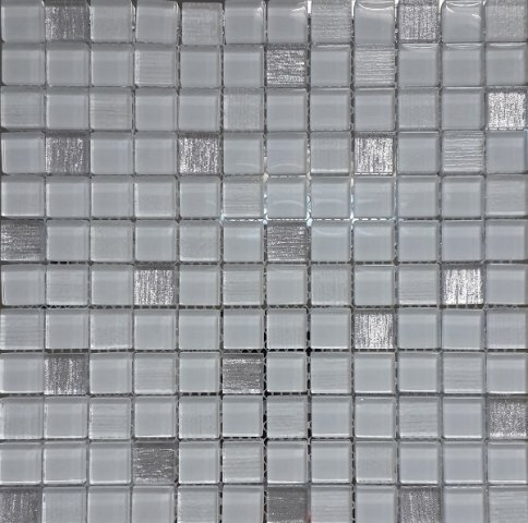Фото - Стеклянная мозаика Orro Mosaic Glass Vesta White 30х30 см luxury white pearl crystal glass 151mm 80mm eu standard double glass panel vl c7 c2 c1 11