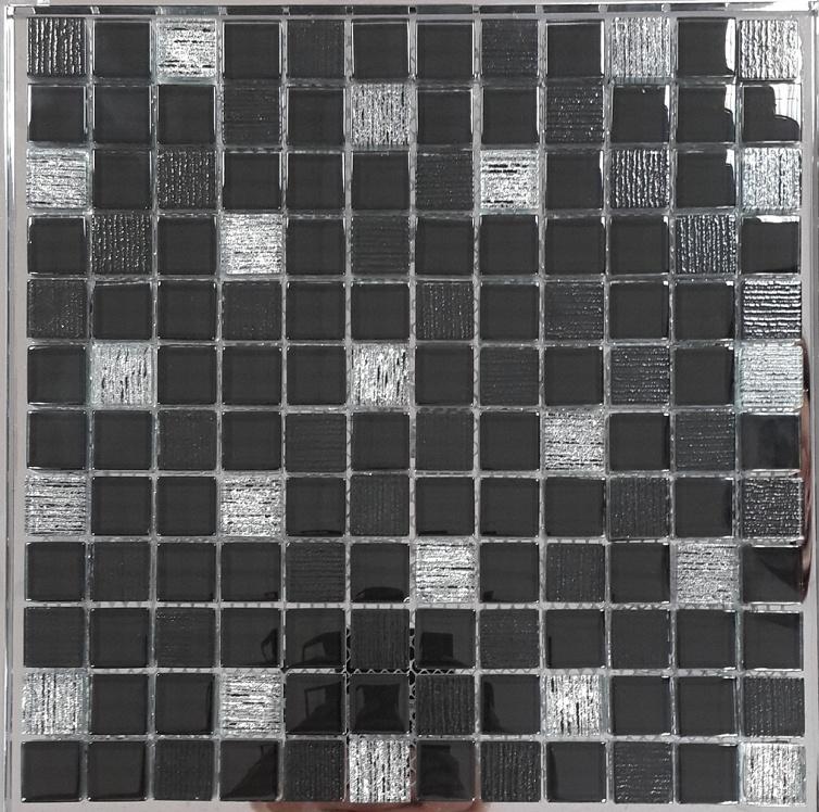 Купить Стеклянная мозаика, Glass Vesta Black 30х30 см, Orro Mosaic, Китай