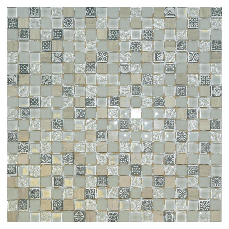 Мозаика Orro Mosaic Glasstone Light Talisman стекло+камень 31х31 см