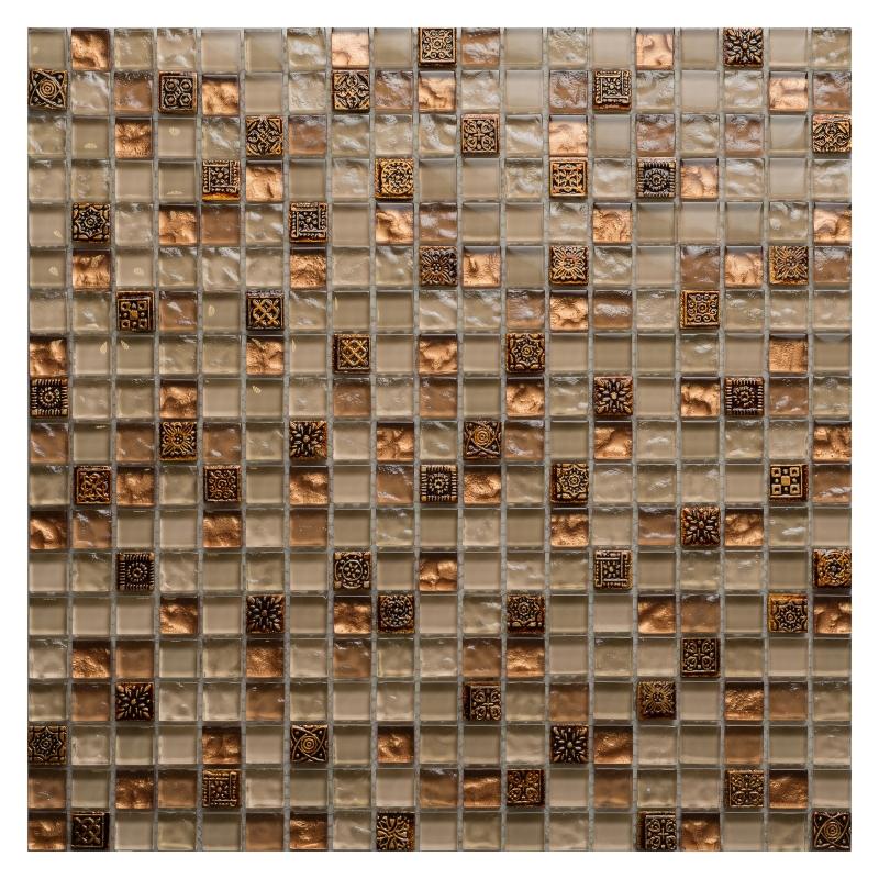 Мозаика Orro Mosaic Glasstone Beige Talisman стекло+камень 31х31 см