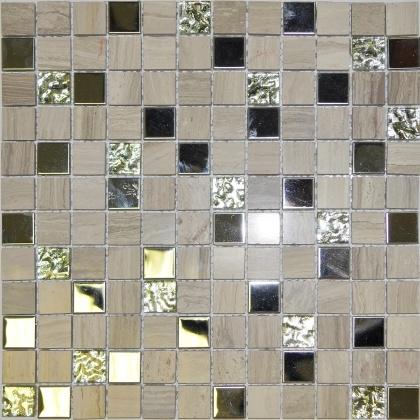 Мозаика Orro Mosaic Glasstone Linen Wood 10 мм. стекло+камень 30х30 см lighthouse wood grain linen pillow case