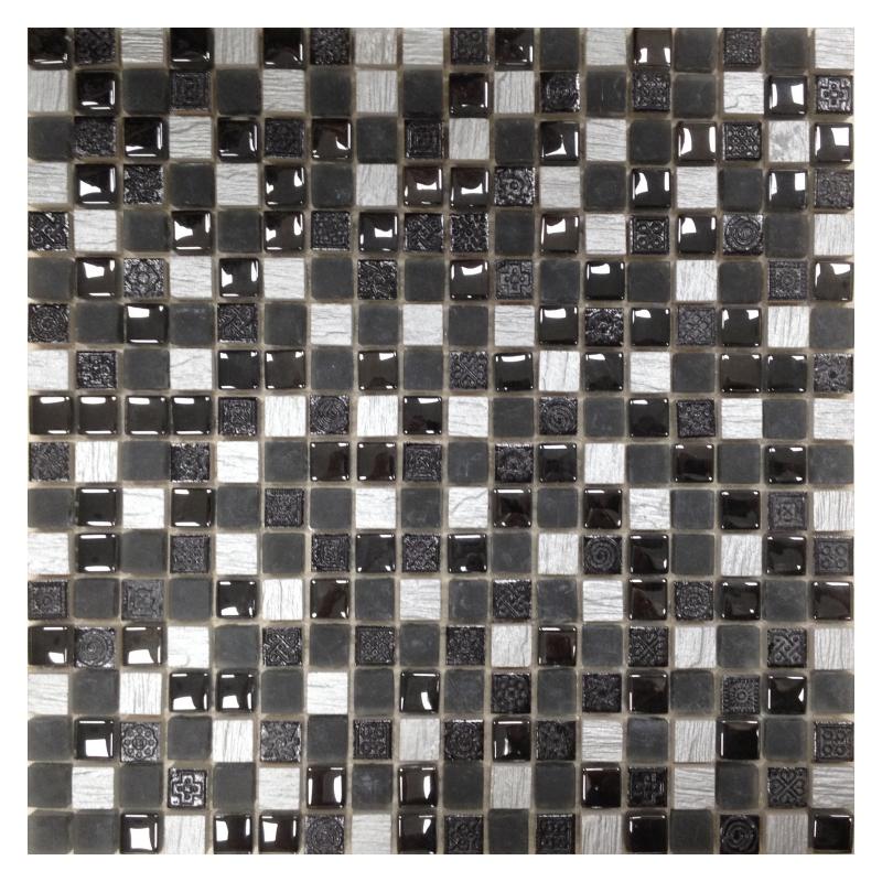 Мозаика Orro Mosaic Glasstone Lavada Black стекло+камень 30х30 см мозаика orro mosaic glasstone decan стекло камень 30х30 см
