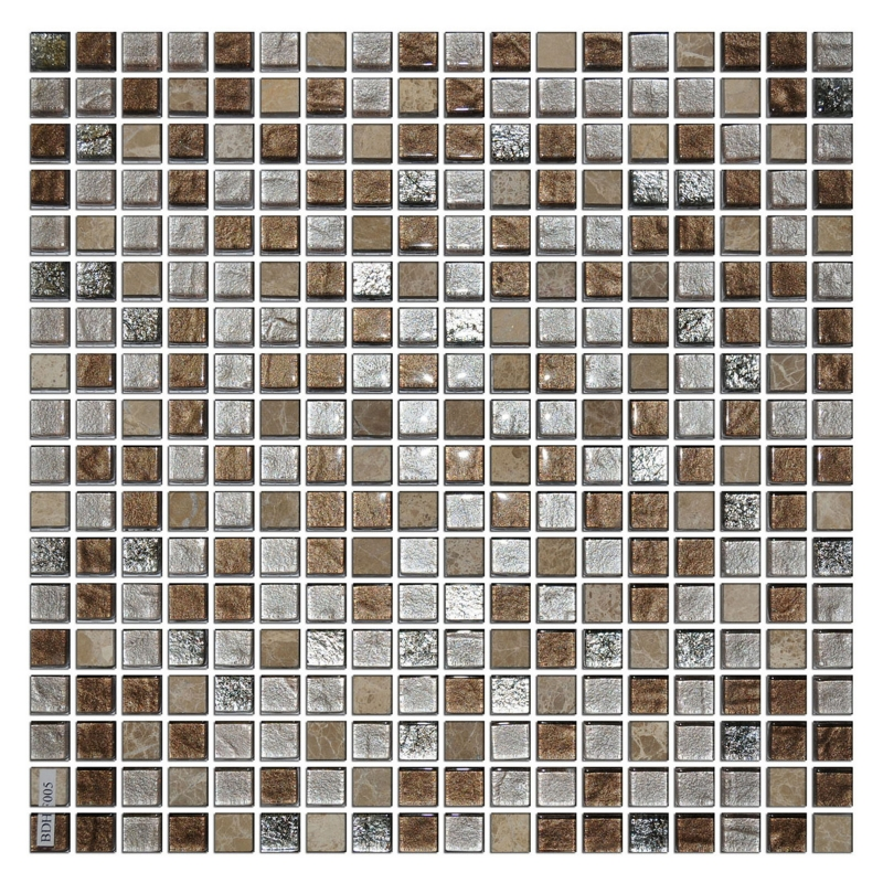 Мозаика Orro Mosaic Glasstone Colonial Brown 4 мм. стекло+камень 30х30 см мозаика orro mosaic glasstone decan стекло камень 30х30 см