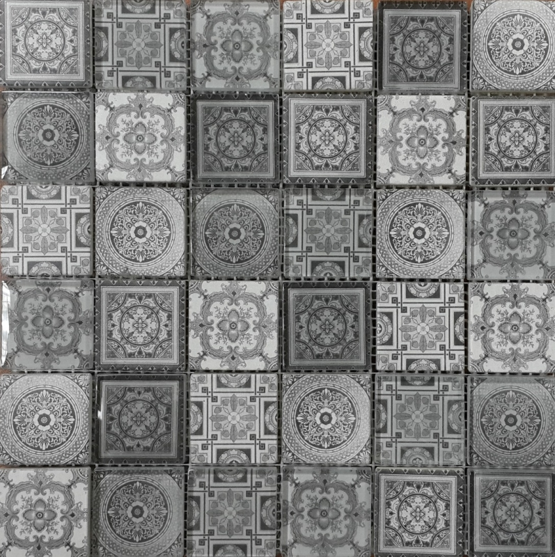 Мозаика Orro Mosaic Glasstone Carpet Gray стекло+камень 30х30 см