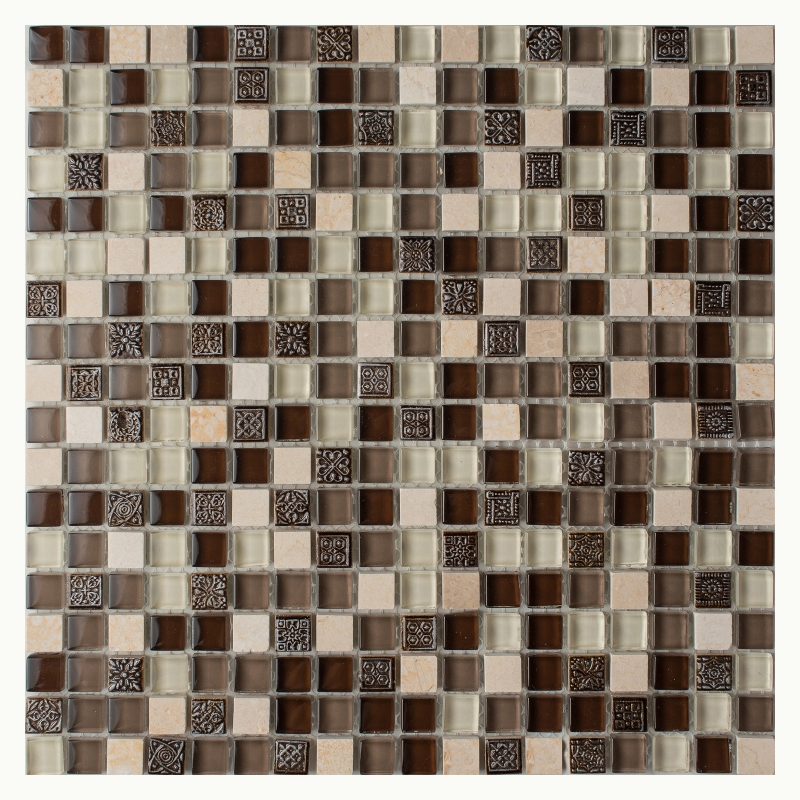 Мозаика Orro Mosaic Glasstone Arabica стекло+камень 30х30 см мозаика orro mosaic glasstone decan стекло камень 30х30 см