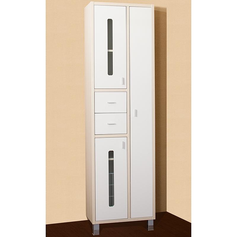 Шкаф пенал Бриклаер Бали 57 с бельевой корзиной Белый Венге зеркальный шкаф бриклаер бали 40 светлая лиственница