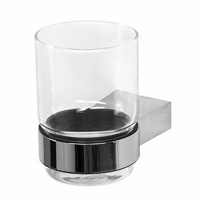 5684 ХромАксессуары для ванной<br> Стакан для зубных щеток Акванет 5684 00187060 выполнен из прозрачного стекла. Создается впечатление, что стаканчик вмонтирован внутрь массивного металлического кольца, который надежно закреплен на стене. <br><br><br> Размер (ШВГ): 10.6 х 9.6 х 9.6 см <br> Крепление: На стену <br><br><br>Комплект поставки: стакан, держатель, крепления.<br>