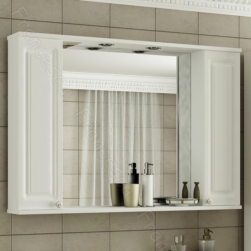 Зеркальный шкаф Francesca Империя 105 Венге зеркальный шкаф francesca империя 80 l венге