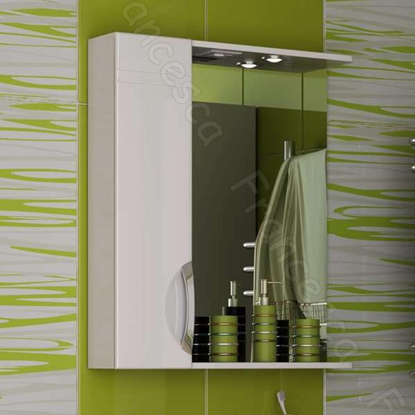 Зеркальный шкаф Francesca Доминго 65 L Белый зеркальный шкаф francesca империя 65 l белый