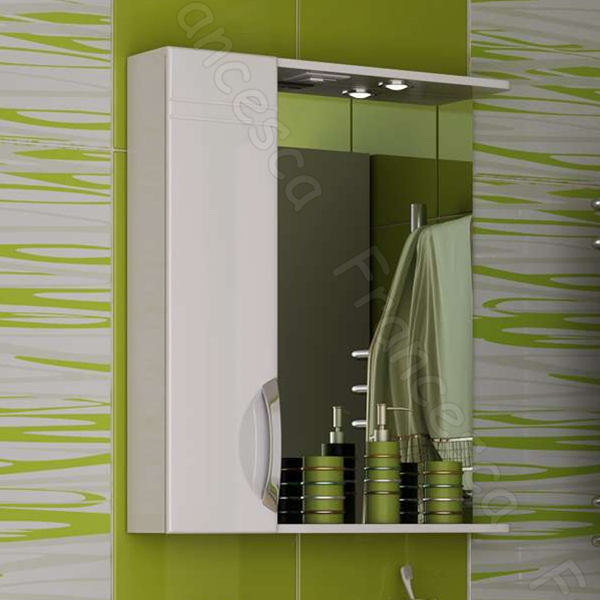 Зеркало со шкафом Francesca Доминго 65 R Белое
