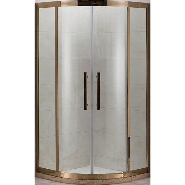 Душевой уголок Grossman Pragma PR-90 90x90 профиль Золото стекло прозрачное