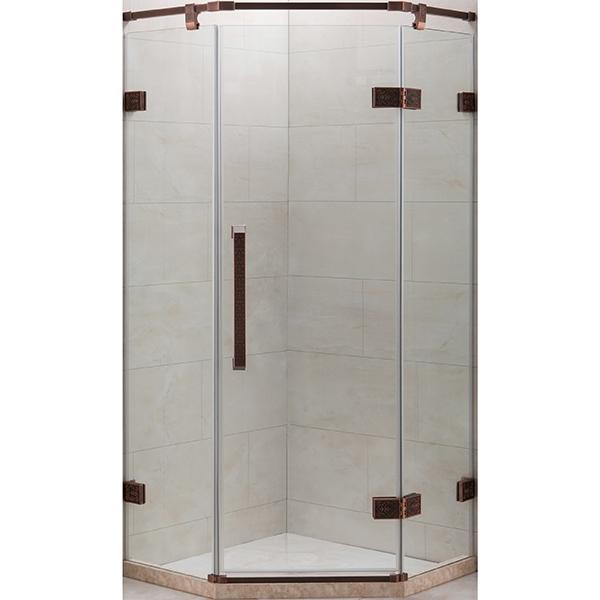 Душевой уголок Grossman Status ST-100D 100x100 профиль Бронза стекло прозрачное душевой уголок grossman 100x100 прозрачный бронза st 100brq