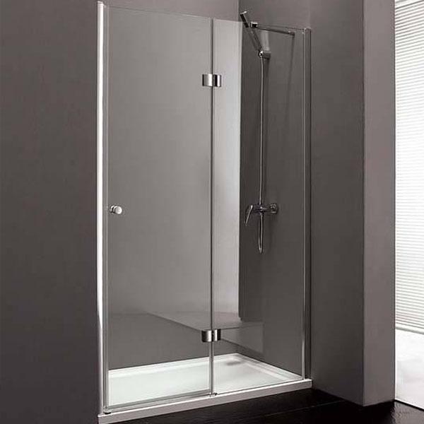 Душевая дверь в нишу Cezares Verona B-12 100 R профиль Хром стекло текстурное душевая дверь в нишу cezares verona b 13 120 r профиль хром стекло текстурное
