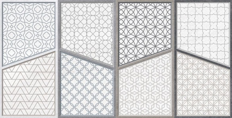 Керамический декор Gayafores Austral Ornato Gris 32х62,5 см