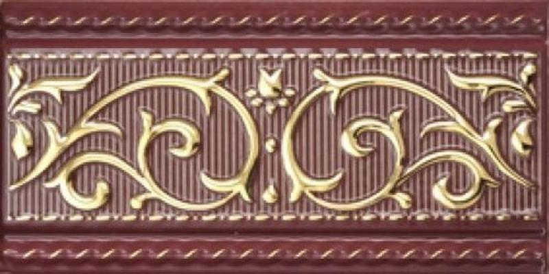 Керамический бордюр Aparici Poeme Burdeos Cenefa 10х20 см цена в Москве и Питере
