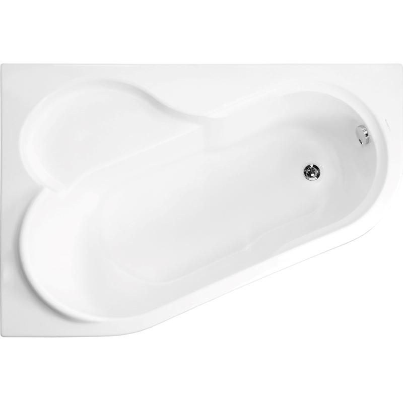 Акриловая ванна Vagnerplast Selena 147x100 R без гидромассажа акриловая ванна 147х100 см r vagnerplast selena vpba141sel3pe 04