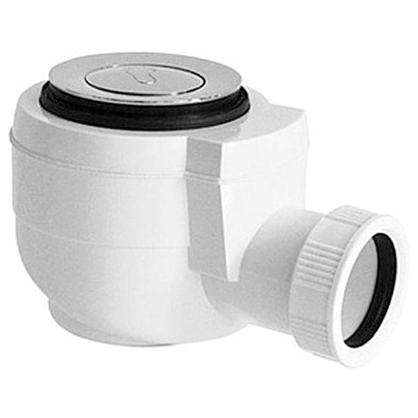 Фото - Сифон для душевого поддона PlastBrno EWCR502 Хром Белый сифон для душевого поддона unicorn easyopen с латунным выпуском 1 1 2 d40 с отводом g311e