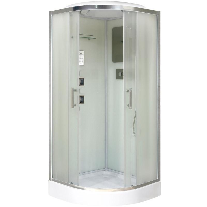 Niagara NG-1702 100x100 стекло матовое задние стенки Белые душевая кабина niagara ng 1701 01b 900х900х2200
