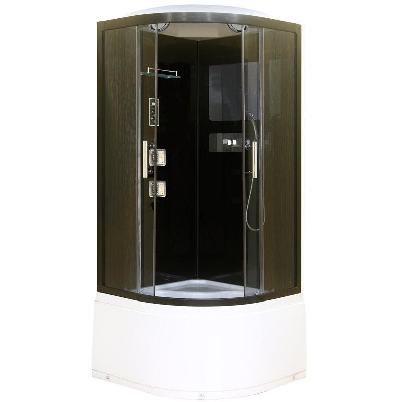Niagara NG-1708B 90x90 стекло тонированное задние стенки Черные душевая кабина niagara ng 1701 01b 900х900х2200