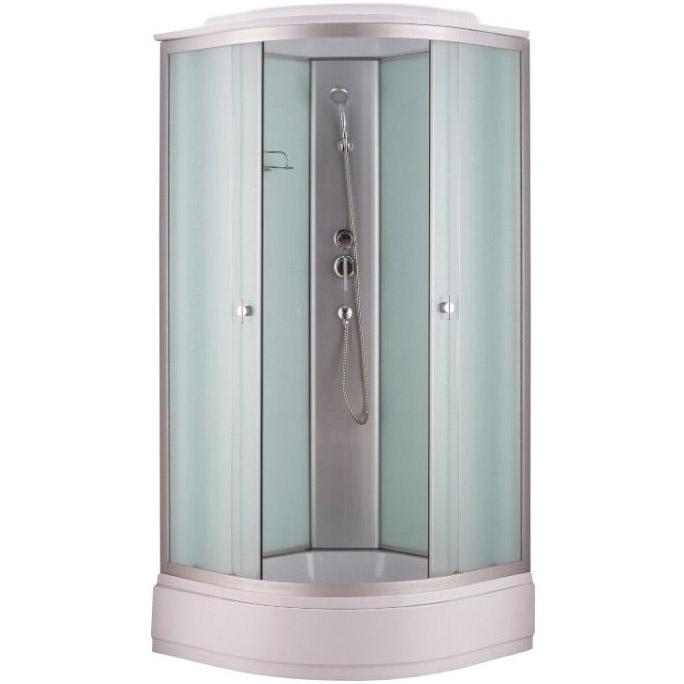 Niagara NG-3301 90x90 стекло матовое задние стенки Белые душевая кабина niagara ng 1701 01b 900х900х2200